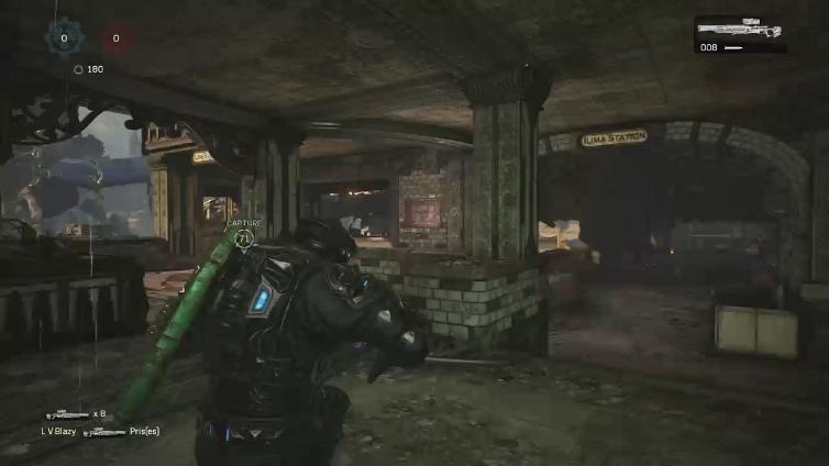 L V Blazy playing Gears of War 4